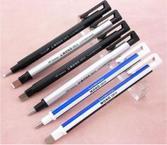 Mini Eraser Pencil EH-KUR| EH-KUS For Pencil; Professional Drawing Eraser Pen Accurate Correction Material escolar 1Pcs