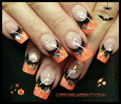 Spooky Halloween Nail Art Designs - Hair and Nail ideas - halloween nails Great Nails, Fabulous Nails, Gorgeous Nails, Cute Nails, Halloween Nail Designs, Halloween Nail Art, Spooky Halloween, Happy Halloween, Halloween Toes