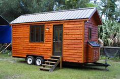 """Ici la """"Tiny Studio"""" de Dan Louche, fondateur de Tiny Home Builders. Elle a une superficie de 15m2."""