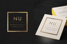 Nu Beauty Consultants Branding | Luxury Branding | Logo & business card design | by Lena Elkhatib Creative