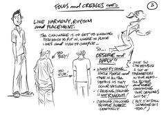 Louie del Carmen: Clothing Folds & Creases -3, line , harmony, rhythm , placement