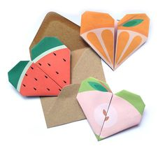Origami Notes. Perfect notes for your kids lunch box. aw i will totally be doing this when Olivia goes to school!