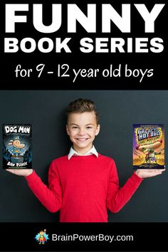 These funny book series for 9 - 12 year old boys will get your boys will get your boys laughing and hooked on reading.