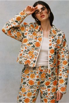 Shop Laura Ashley UO Exclusive Devon Quilted Jacket at Urban Outfitters today. Laura Ashley, Karim Rashid, Textiles, Devon, Urban Outfitters, Mode Lookbook, Floral Fashion, Bohemian Fashion, Quilted Jacket