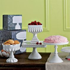 "Although some of these ""decor bon bon"" may not be ""cake stands per se"", they would make the perfect accompaniment with any cake on your table."