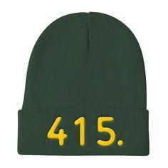 California 415 Area Code - Knit Beanie