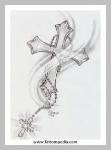 Cross Rosary Inkd Cross Tattoo Designs Tattoos Cross in measurements 768 X 1024 Cross With Rosary Tattoo Designs - In today's world just about everyone Celtic Cross Tattoos, Cross Tattoos For Women, Kreutz Tattoo, Trendy Tattoos, Tattoos For Guys, Rosary Bead Tattoo, Rosary Beads, Rosary Tattoo Wrist, Crucifix Tattoo
