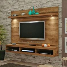 modular panel flotante tv led lcd rack organizador oferta - Led Tv - Trending LED Tv for sales Tv Unit Decor, Tv Wall Decor, Tv Wand Design, Tv Wall Panel, Wall Tv, Lcd Panel Design, Tv Wall Cabinets, Tv Unit Furniture, Furniture Ideas