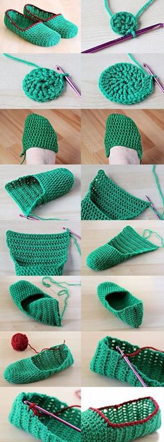 Ideas Crochet Ganchillo Patrones For 2019 Crochet Gifts, Crochet Baby, Free Crochet, Knit Crochet, Crochet Slipper Pattern, Crochet Slippers, Knitting Patterns, Crochet Patterns, Crochet Designs
