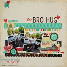 Scrapbook layout using Simple Stories - We Are Family collection
