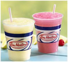 Tim Hortons frozen raspberry lemonade/Iced Coffee - small, just 99 cents! :) I'm their advertisement. Frozen Lemonade, Raspberry Lemonade, Frozen Drinks, Tim Hortons, Fun Drinks, Yummy Drinks, Cold Drinks, Beverages, Copycat Recipes Outback