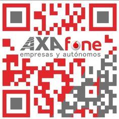 El código QR de la empresa Axafone.