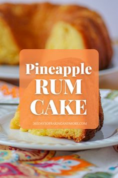 With pineapple, dark rum, instant pudding mix, and a boxed cake mix, it's super easy to put together and tastes even better the next day. This Pineapple Rum Cake has quickly become a family favorite.