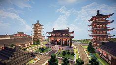 Chinese Water Village Minecraft World Save