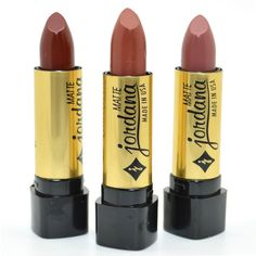 Jordana Lot Of 3 Matte Lipstick Brown Cafe Taupe Collection Shades + Free Earring, Brown - Cafe - Taupe Jordana Matte, Jordana Lipstick, Brown Matte Lipstick, Natural Lipstick, Matte Red, 90s Makeup, Makeup Lipstick, Brown Cafe, Make Up