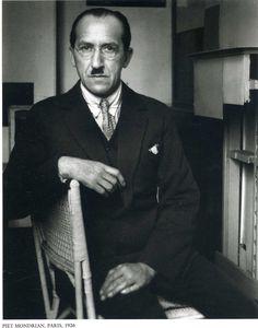 Piet Mondriaan (famous Dutch painter), Paris, 1926 ~Via Gail Arnold
