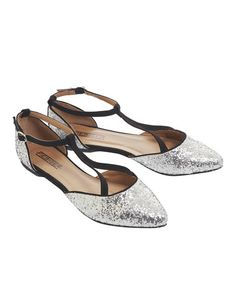 Take a look at this Black & Silver Stardust Flat by Fiebiger Shoes on #zulily today!