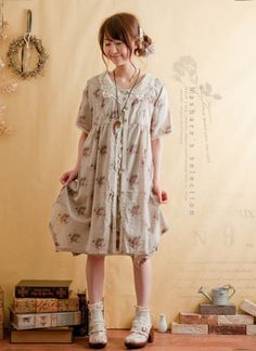 """the japanese """"Mori"""" style is a beautiful retro style, very ispiring for little girls' clothes, too :)"""