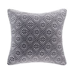 Snowflake Knit Square Soft Grey Throw Pillow; $39.99