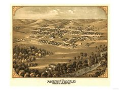 Pacific, Missouri - Panoramic Map Art Print
