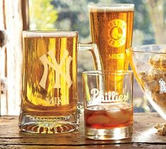 MLB™ Glassware - $24.00 // Can also personalize with their name
