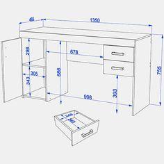 Planos: Muebles para Oficina Construye tus proyectos con nuestros herrajes y Abrasivos: https://www.igraherrajes.com