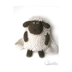 Sheep backpack ❤ liked on Polyvore