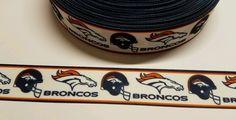"6 Yards 1"" Denver Broncos Football Inspired  Grosgrain Ribbon #Unbranded"