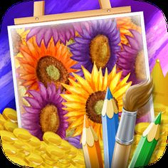 Cover art Android Apps, Adult Coloring, Google Play, Cover Art, Flowers, Adult Colouring In, Florals, Flower, Blossoms