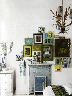 Fantastic Green and Salon Wall Idea
