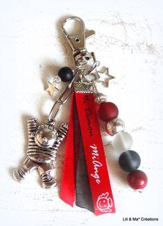 """Bijou de sac, grigri, Lili et Ma* Créations """"Mi Ange mi DEMON"""" : Porte clés par lili-et-ma-creations"""