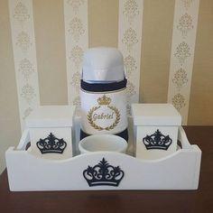 Kit higiene Gabriel 💙 PARA COMPRAR ACESSE: http://www.sollomimo.com.br/products/kit-higiene-gabriel-1 #kithigiene #babyboy #menino #decoracaobebe #decoracaomeninos #quartodebebe #sollomimo