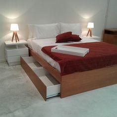 Cama con cajones www.forbidan.com.ar
