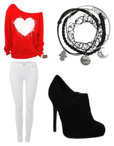 """""""School day"""" by hannah-e-sharp on Polyvore featuring 7 For All Mankind"""