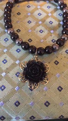 Handmade vintage flower beaded charm bracelet https://www.etsy.com/au/shop/JETAccessories?ref=hdr_shop_menu