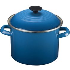 A Le Creuset stock pot in a brilliant blue makes cooking fun. | $75