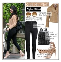 """""""Kylie Jenner-Steal Her Style"""" by andjela19951 ❤ liked on Polyvore featuring H&M, Topshop, Aquazzura, Proenza Schouler and Christian Dior"""