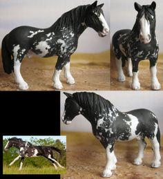 repainted schleich Percheron stallion