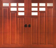 Clopay custom wood garage doors are inspired by the past and built for the way we live today. Carriage House Garage Doors, Wooden Garage Doors, Decorative Windows, Door Ideas, Custom Wood, Traditional House, Remodeling Ideas, Contemporary, Modern