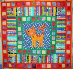 Купить лоскутное одеяло для мальчика КОТЯ одеяло для детей - лоскутное одеяло, лоскутное покрывало