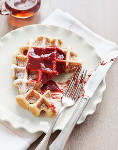 We love having two waffle makers our round deep Belgian waffle maker and cuisinarts square one which is not as deep but easier to clean. Either way we can now have Belgian waffles for breakfast, lunch or dinner!! mmmm yummy :)