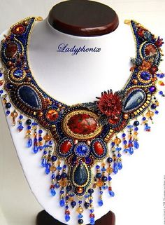 Ladyphenix is name of two talanted russian beadwork artists mother and daughter Irina and Anastasia Stepanko. They make amazing jewelry in bead embroidery tecnhique.
