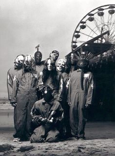 Slipknot Self Titled Group Shot Nu Metal, Rock Y Metal, Corey Taylor, Heavy Metal Music, Heavy Metal Bands, Death Metal, Slipknot Band, Slipknot Quotes, Slipknot Tattoo