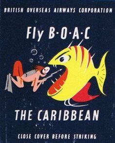 Fly BOAC The Carribean