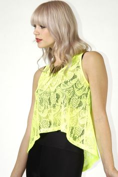 Neon Lace Tank Top - Skinny Bitch Apparel