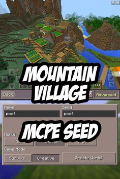 Minecraft PE Mountain Village Seed: poof