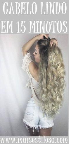 Deixe seu cabelo lindo e maravilhoso em apenas 15 minutos.