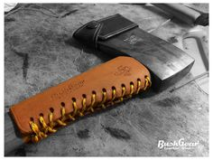 Handle leather guard / Haft Protection / by BushgearLeatherworks