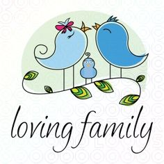 Ideal logo for famiily consulting, family forums, online forums and many more.  This logo can be adjusted to fit your needs. Logo representing mama bird, papa bird and the little one