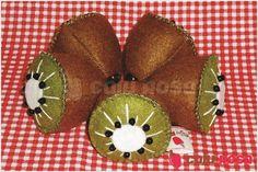 Fruta em feltro - Kiwi   Caju Rosa   Elo7